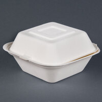 Dart Solo HC6SC-2050 Bare 6 inch Square Sugarcane Takeout Container - Compostable 400 / Case