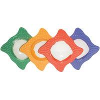 GET B-1612-MIX Four Mardi Gras Colored Las Brisas 6 oz. Square Melamine Bowls - 12/Pack