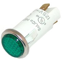 All Points 38-1211 Signal Light; 1/2 inch; Green; 125V