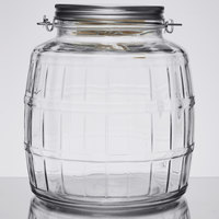 Anchor Hocking 85728 1 Gallon Barrel Jar with Brushed Aluminum Lid