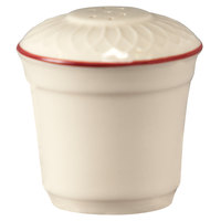 Homer Laughlin 1492-0321 Gothic Red Jade 2 3/4 inch Off White China Salt Shaker - 36/Case