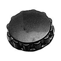 All Points 22-1294 2 1/2 inch Fluted Black Knob
