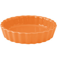 Hall China 30864325 Tangerine 8 oz. Colorations Round Fluted Souffle / Creme Brulee Dish - 24/Case