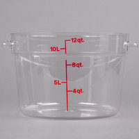 Cambro RFSCW12135 Camwear 12 Qt. Clear Round Food Storage Container