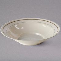 WNA Comet MPBWL10IPREM 10 oz. Ivory Masterpiece Bowl with Gold Accent Bands - 150/Case