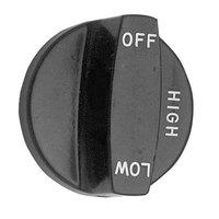 Southbend 1166011 Equivalent 2 1/2 inch Broiler Burner Valve Knob (Off, Low-High)