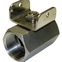 All Points 56-1257 1 1/4 inch FPT Stainless Steel Drain Valve with Bracket