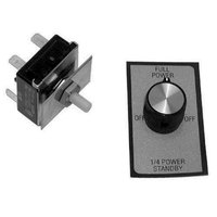 All Points 42-1173 On/Off/On Rotary Switch Kit with Decal, Face Plate, an Pointer Knob - 25A/120V/240V