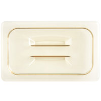 Cambro 40HPCH150 H-Pan™ 1/4 Size Amber High Heat Handled Flat Lid