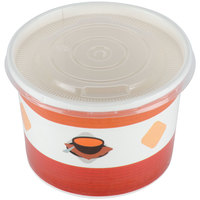 Choice 12 oz. Double Poly-Coated Paper Soup / Hot Food Cup with Vented Plastic Lid - 250/Case