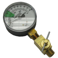 All Points 62-1084 Pressure Gauge; 0 - 60 PSI; 1/4 inch MPT Bottom Mount