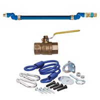 48 inch Dormont 1650KIT2S Deluxe SwivelMAX Gas Connector Kit - 1/2 inch Diameter