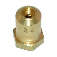 All Points 26-1094 Brass Hood Orifice; #34; Natural Gas; 3/8 inch-27 Thread; 1/2 inch