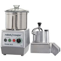 Robot Coupe R602VV Combination Continuous Feed Food Processor with 7 Qt. Stainless Steel Bowl - 3 hp