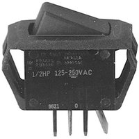 Bloomfield 8707-28 Equivalent Momentary On/Off Rocker Switch - 12A/125V, 8A/250V