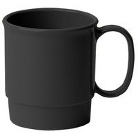 Cambro 75CW110 Black Camwear 7.5 oz. Stacking Mug - Polycarbonate 48/Case