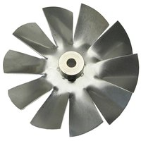 Food Warming Equipment BLD FAN AL Equivalent Clockwise Fan Blade 3 inch Diameter x 3/16 inch Bore