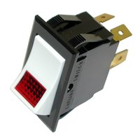All Points 42-1386 On/Off Lighted Rocker Switch - 24V Lamp