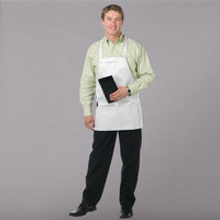 Chef Revival 612BAFH-WH Customizable White Bib Apron - 28 inchL x 27 inchW