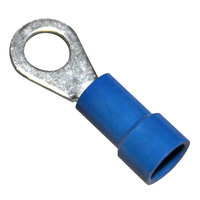 All Points 85-1020 Blue Ring Terminal; Stud 1/4 inch; 14 - 100/Box