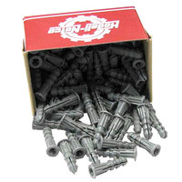 All Points 85-1089 Plastic Ribbed Wall Anchors; #10 - #12 Screws - 100/Box