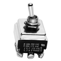 All Points 42-1206 On/Off Toggle Switch - 10A/250V, 6A/600V, 20A/125V