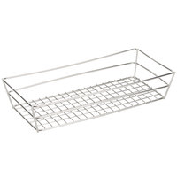 American Metalcraft GCSS6132 13 inch x 6 inch x 2 1/2 inch Stainless Steel Grid Rectangular Basket