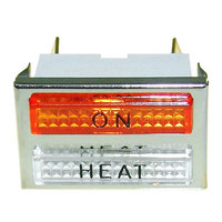 All Points 38-1191 On and Heat Signal Light; 1 1/4 inch x 13/16 inch; Amber / Clear; 200 - 240V