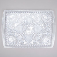 12 inch x 18 inch Crystal Rectangular Plastic Catering Tray