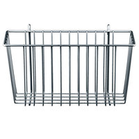 Metro H209C Chrome Storage Basket for Wire Shelving 13 3/8 inch x 5 inch x 7 inch