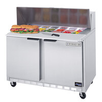 Beverage Air SPE48-12C 48 inch Refrigerated Salad / Sandwich Prep Table with Cutting Top