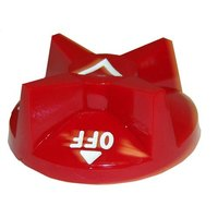 All Points 22-1239 2 7/8 inch Red Broiler / Oven / Cheese Melter / Salamander Polycarbonate Knob (Off-On)
