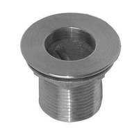 All Points 56-1217 Nickel Plated Brass Sink Drain - 1 1/2 inch NPS; 1 1/2 inch Long; 2 inch Sink Opening