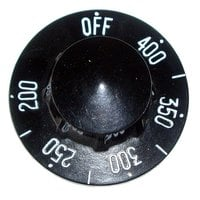 Frymaster 8102035 Equivalent 2 1/4 inch Fryer / Grill / Griddle Thermostat Dial (Off, 200-400)