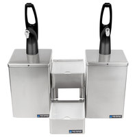 San Jamar P4826BK FrontLine Dual Pump Condiment System with Stepped Trays - Black Finish