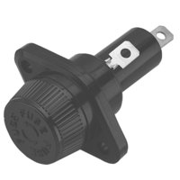 Grindmaster-Cecilware C142A Equivalent 13/32 inch x 1 1/2 inch Push-Turn Bayonet Cap Fuse Holder - 30 Amp, 600V
