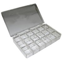 All Points 85-1082 18 Compartment Clear Plastic Storage Box