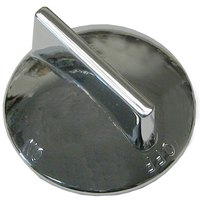 All Points 22-1464 2 inch Chrome Broiler / Range / Grill Knob (Off-On)