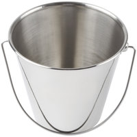 American Metalcraft SSP43 Mini Stainless Steel Pail - 4 3/8 inch x 4 7/8 inch