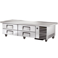 True TRCB-79-86 86 inch Four Drawer Refrigerated Chef Base