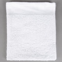 Choice 16 inch x 19 inch White 32 oz. 100% Cotton Ribbed Terry Bar Towel - 12/Pack