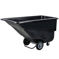 Continental 5833BK 1.1 Cubic Yard Black Tilt Truck / Trash Cart (800 lb.)