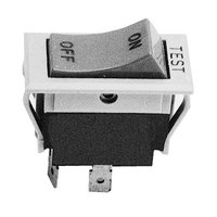 Wells 55128 Equivalent Off/Momentary On Rocker Switch - 6A/125V, 3A/250V