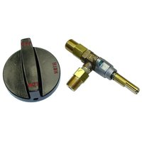 All Points 52-1096 Burner Valve with Knob - 1/4 inch Gas In / Out