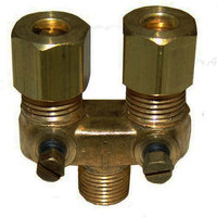 All Points 52-1061 Dual Pilot Adjustment Valve; 1/8 inch MPT x 3/16 inch CCT