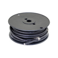 All Points 38-1308 High Temperature Wire; #8 Gauge; Stranded SF2; Black; 50' Roll
