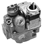 All Points 54-1015 Type BER-120 Gas Safety Valve; Natural Gas; 3/4 inch Gas In / Out; 1/4 inch Pilot Out; 120VAC Actuator