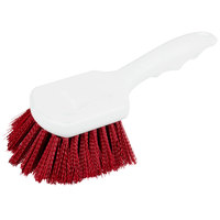 Carlisle 4054105 8 inch Red Sparta Spectrum General Clean Up / Pot Scrub Brush