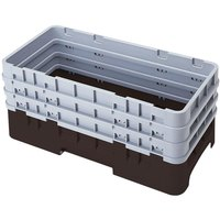 Cambro HBR712167 Brown Camrack Half Size Open Base Rack with 3 Extenders