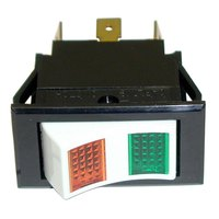 All Points 42-1383 Momentary On/Off Lighted Rocker Switch - 24V Lamp